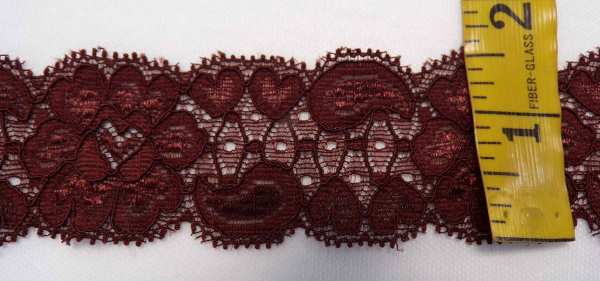 1 5/8 Brown stretch lace