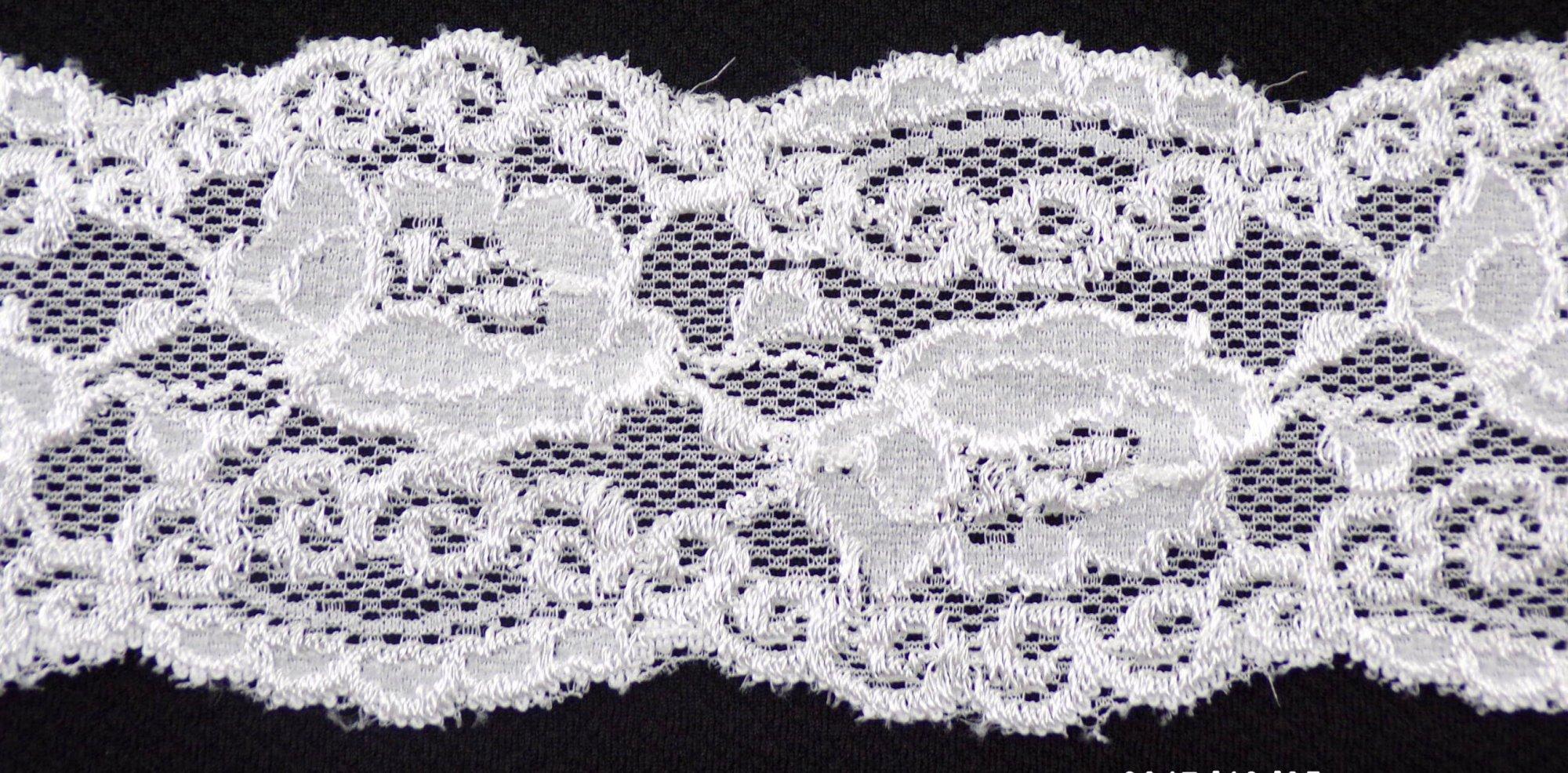 2 3/4in Raw White stretch lace (SL362)