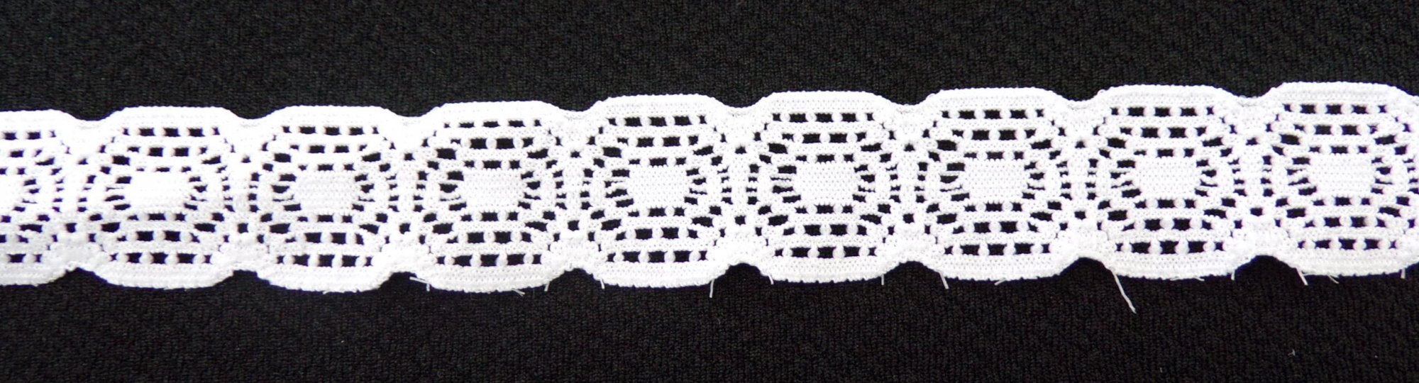 3/4in White stretch lace (SL545)