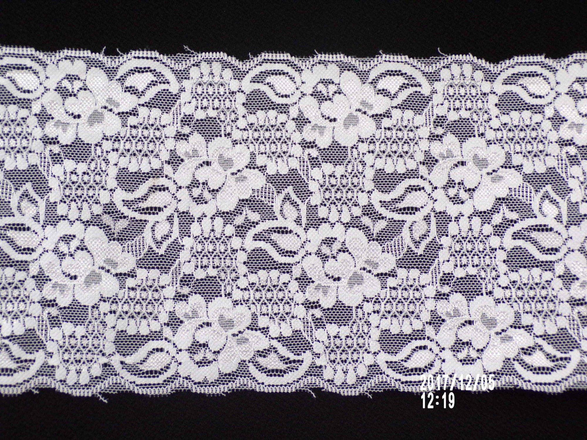 5 3/4in White stretch lace (SL750)