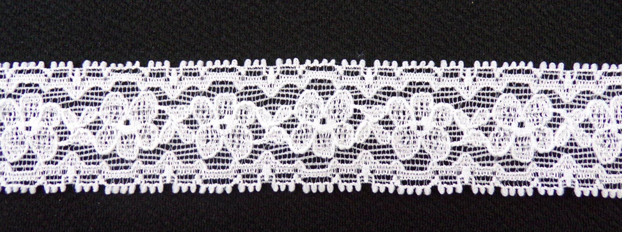 1 1/4in White stretch lace (SL829)
