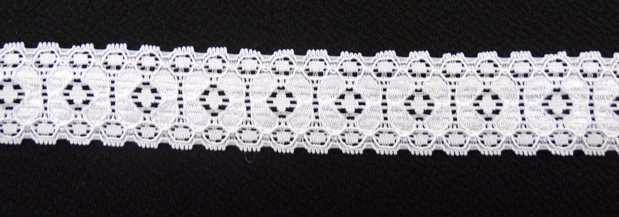 1 1/8in White stretch lace (SL943)