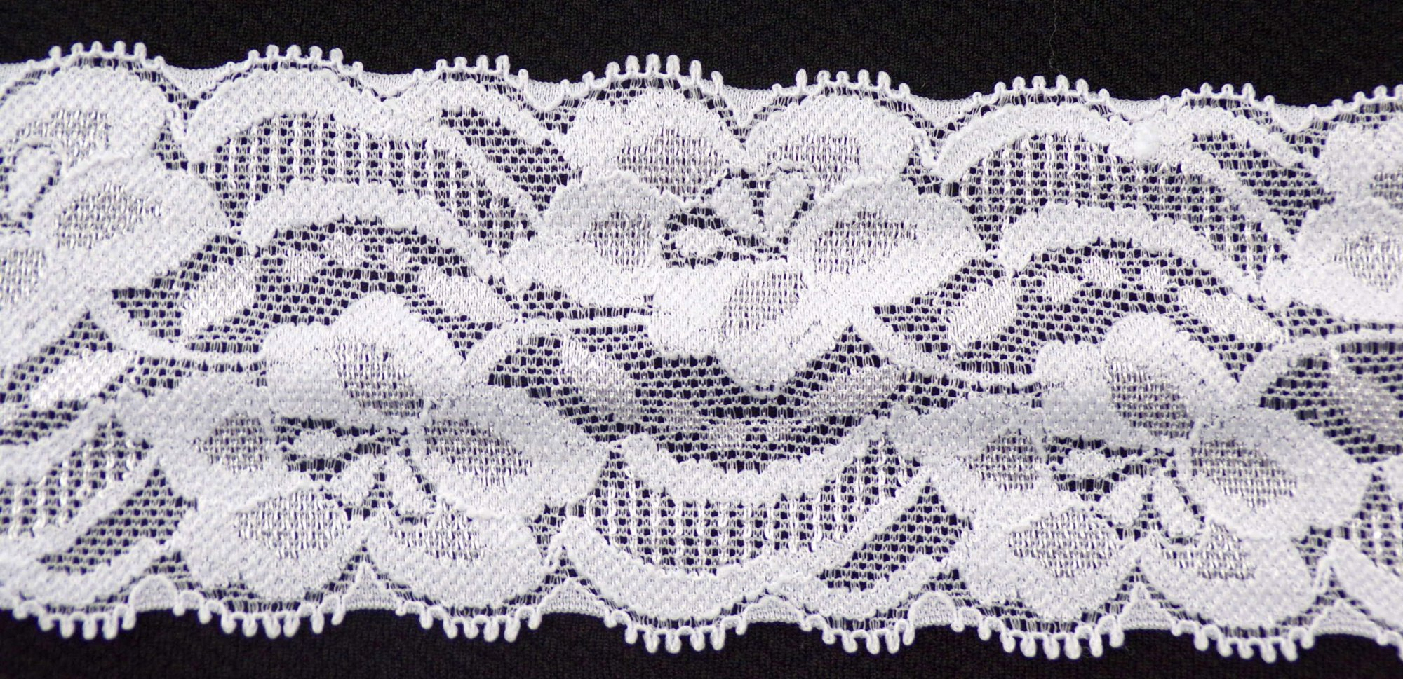 2 3/8in White stretch lace (SL991)