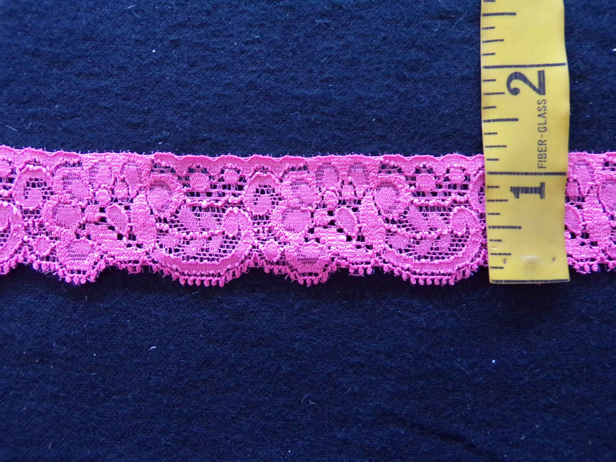 1 1/4 Coral Stretch Lace