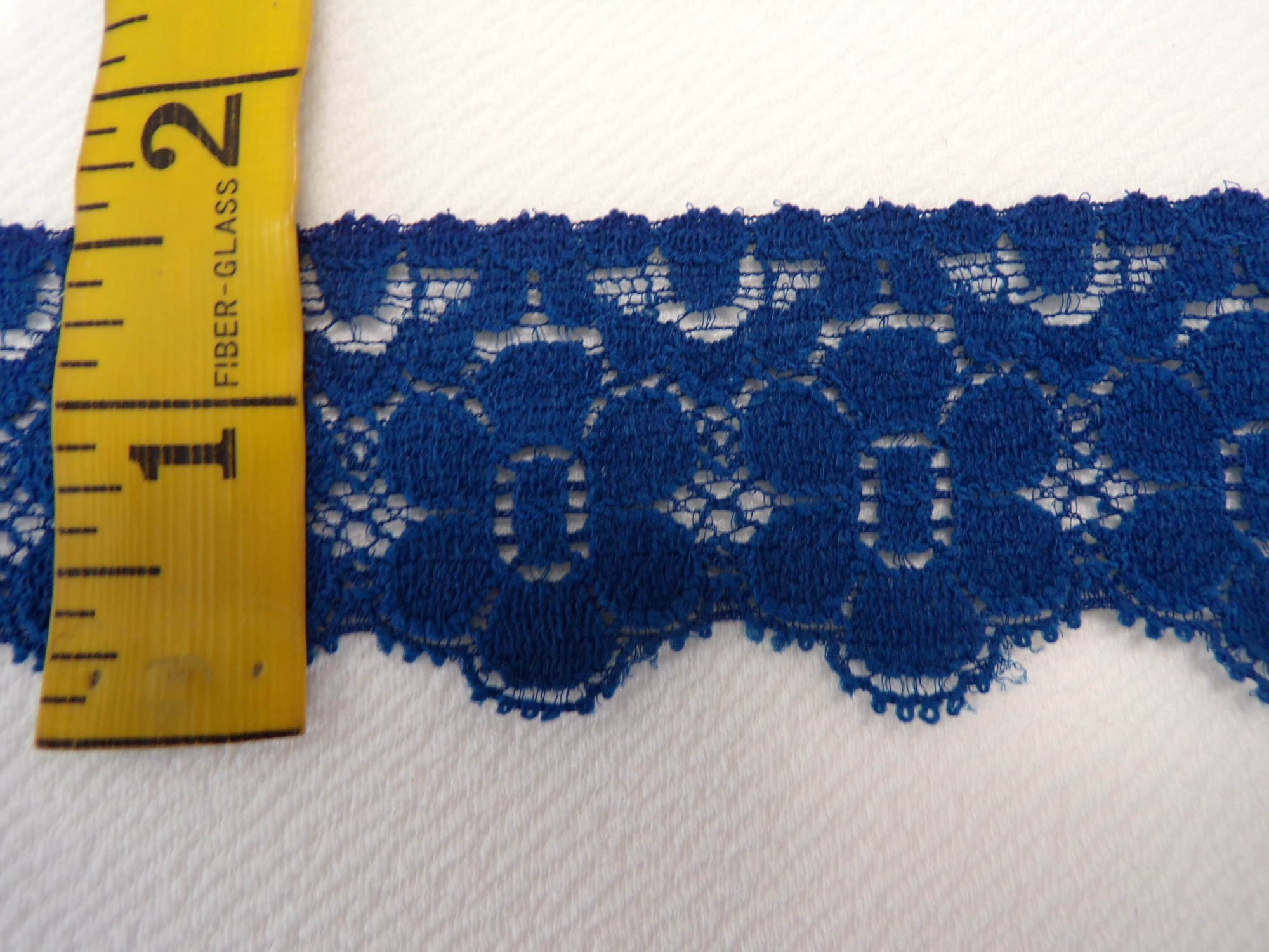 1 5/8 Dark Blue Stretch lace (SLDB101)