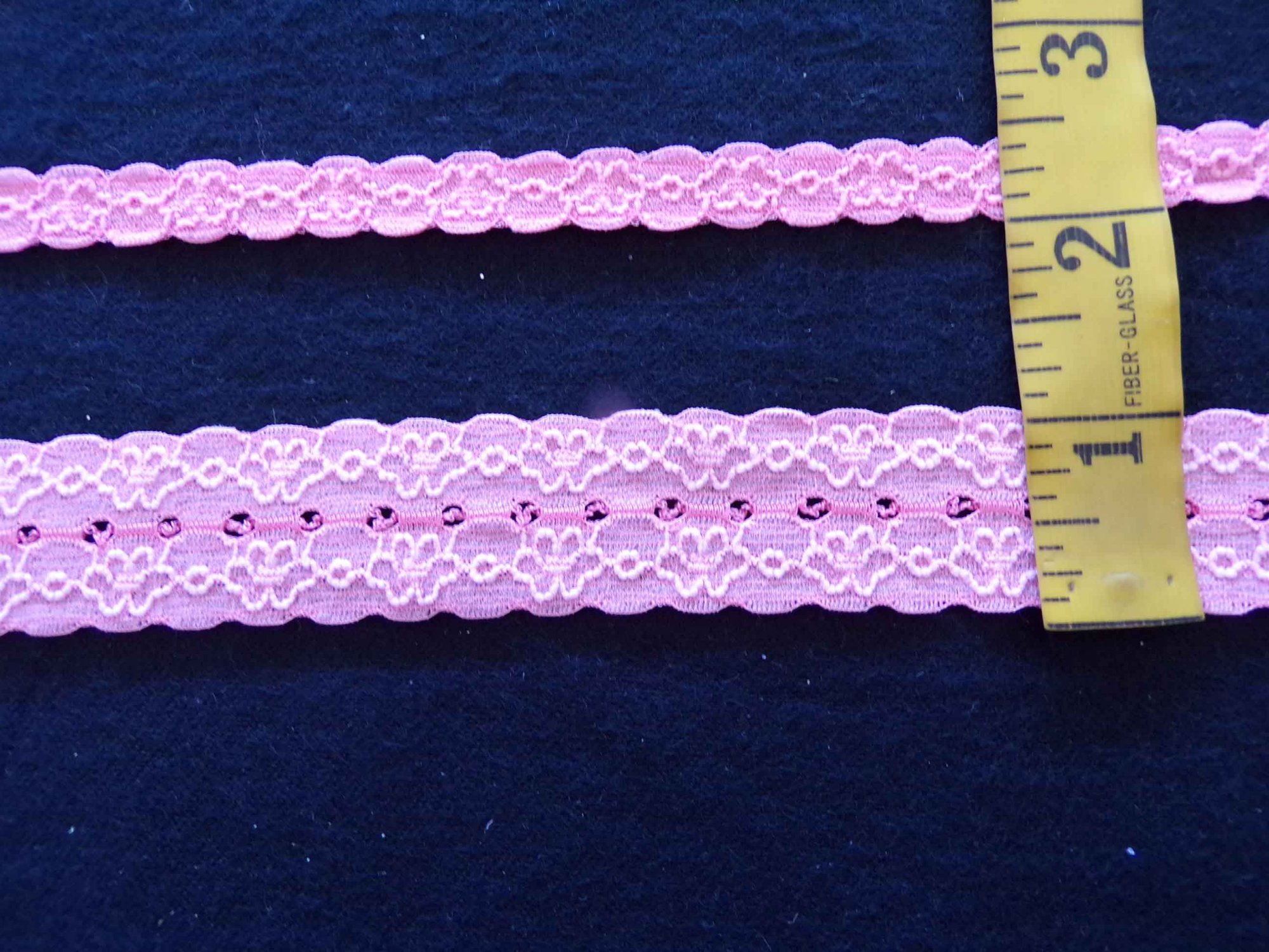 1 Peach Stretch Lace