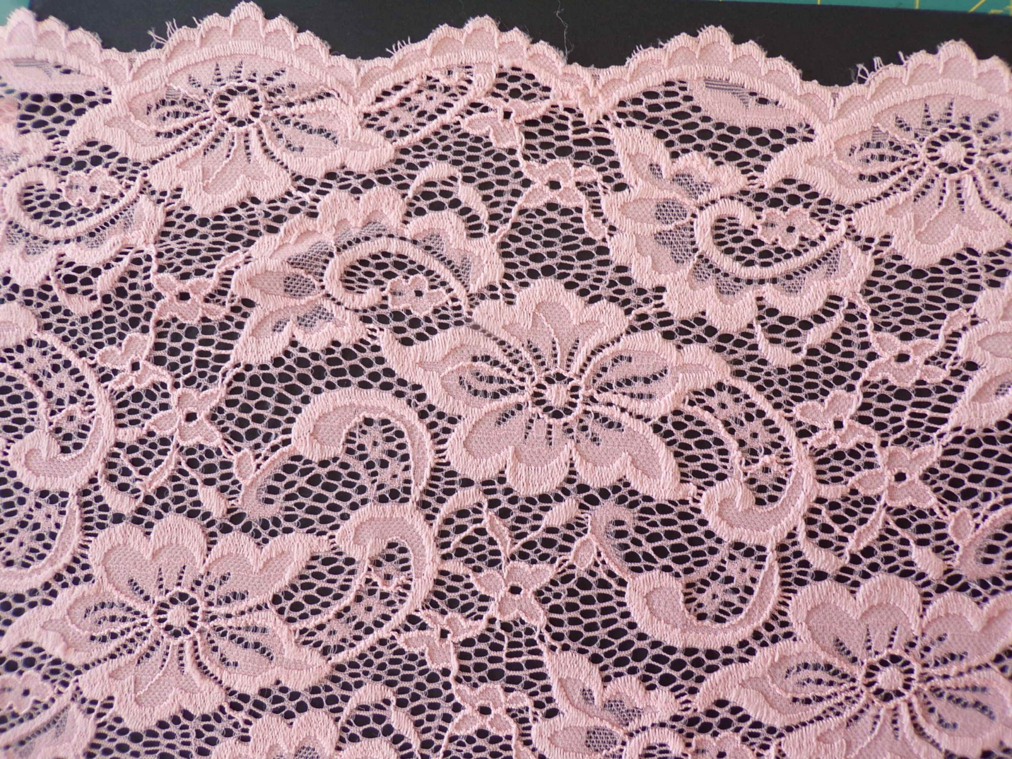Scalloped Stretch Lace - Peach