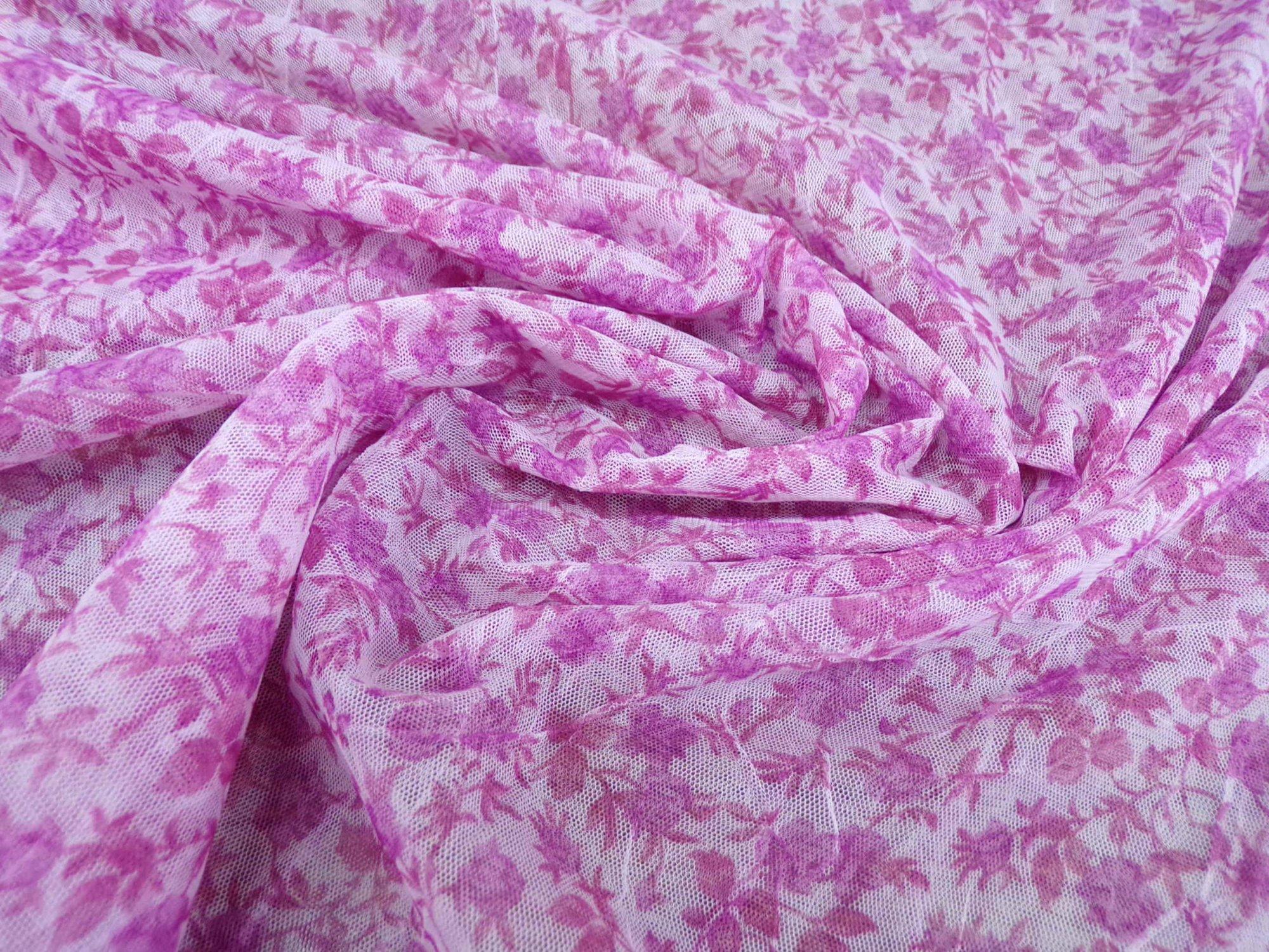 Stretch Mesh - Pink Crinkled