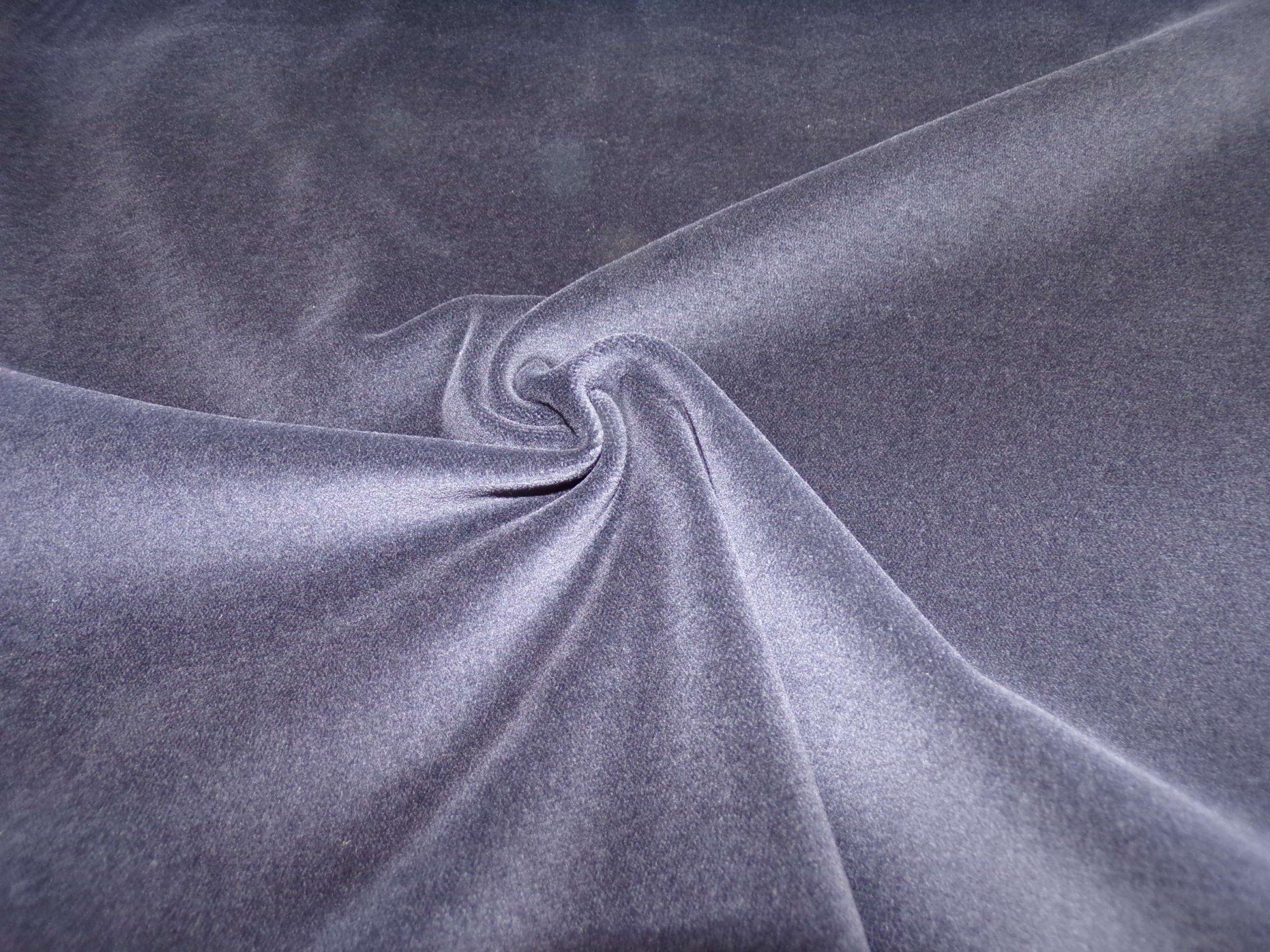 Polyester Lycra Stretch Velveteen - Black