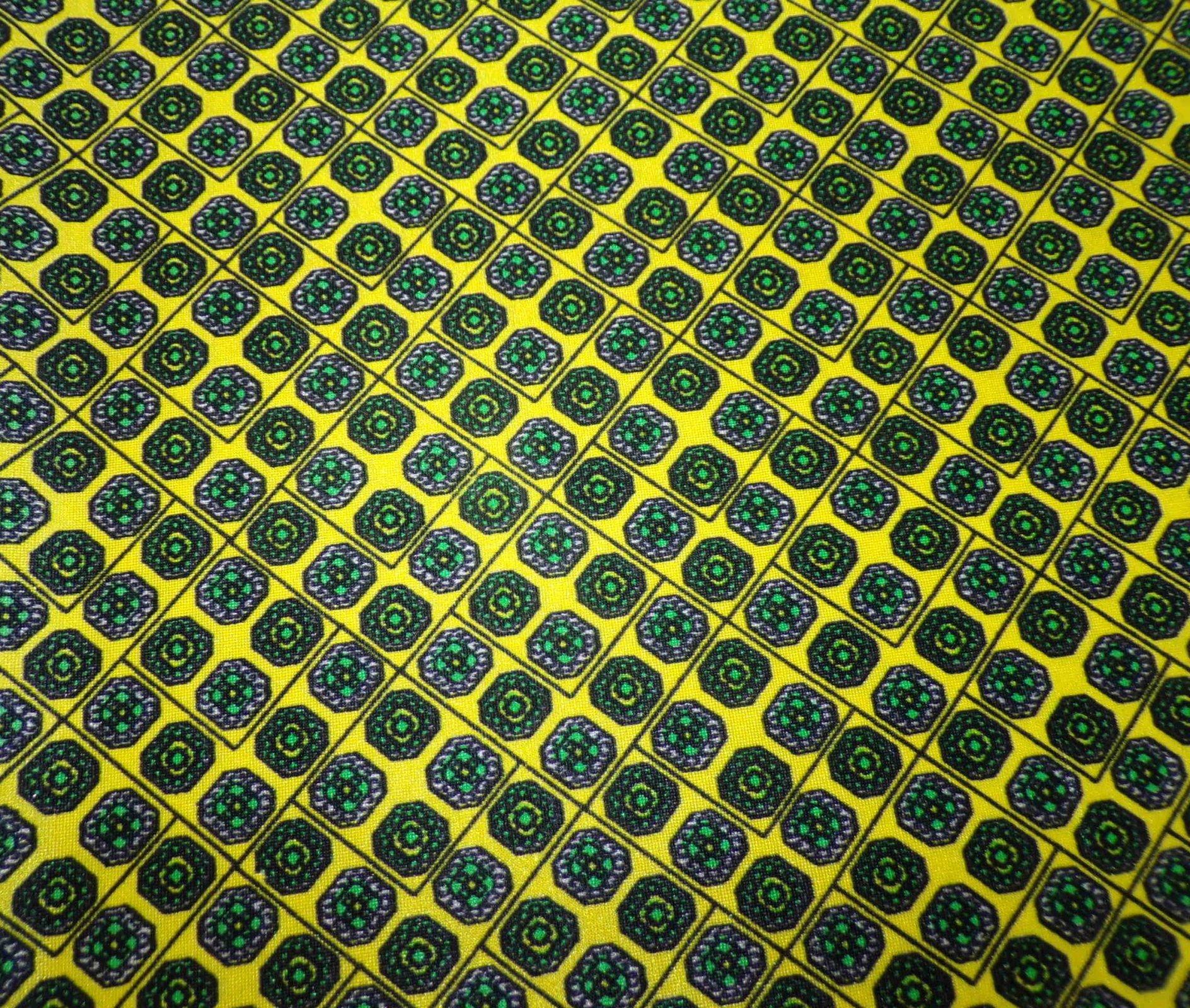 Nylon Lycra Swimwear - Yellow Black and Green