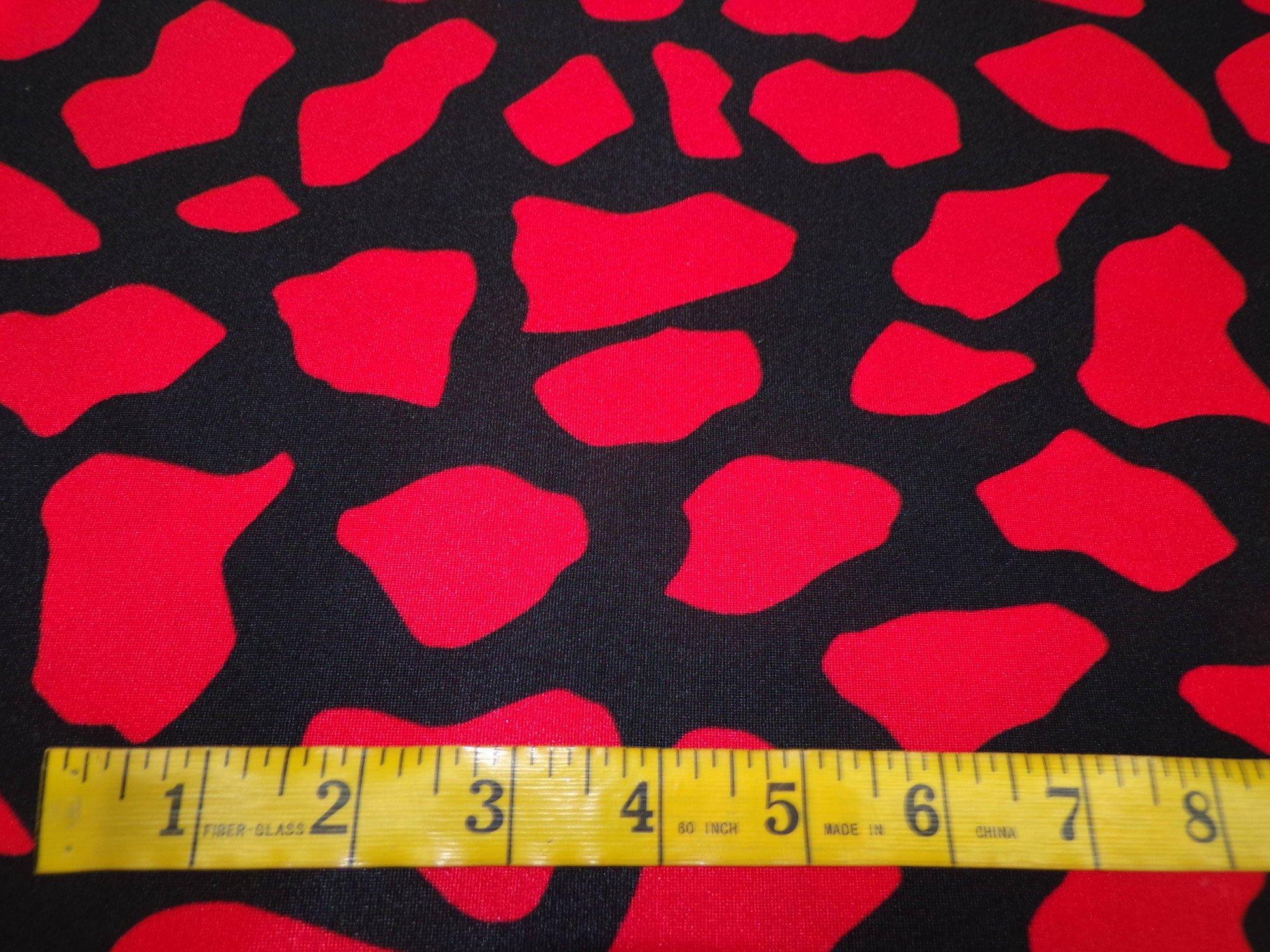 Nylon Lycra Swimwear - Black and Red
