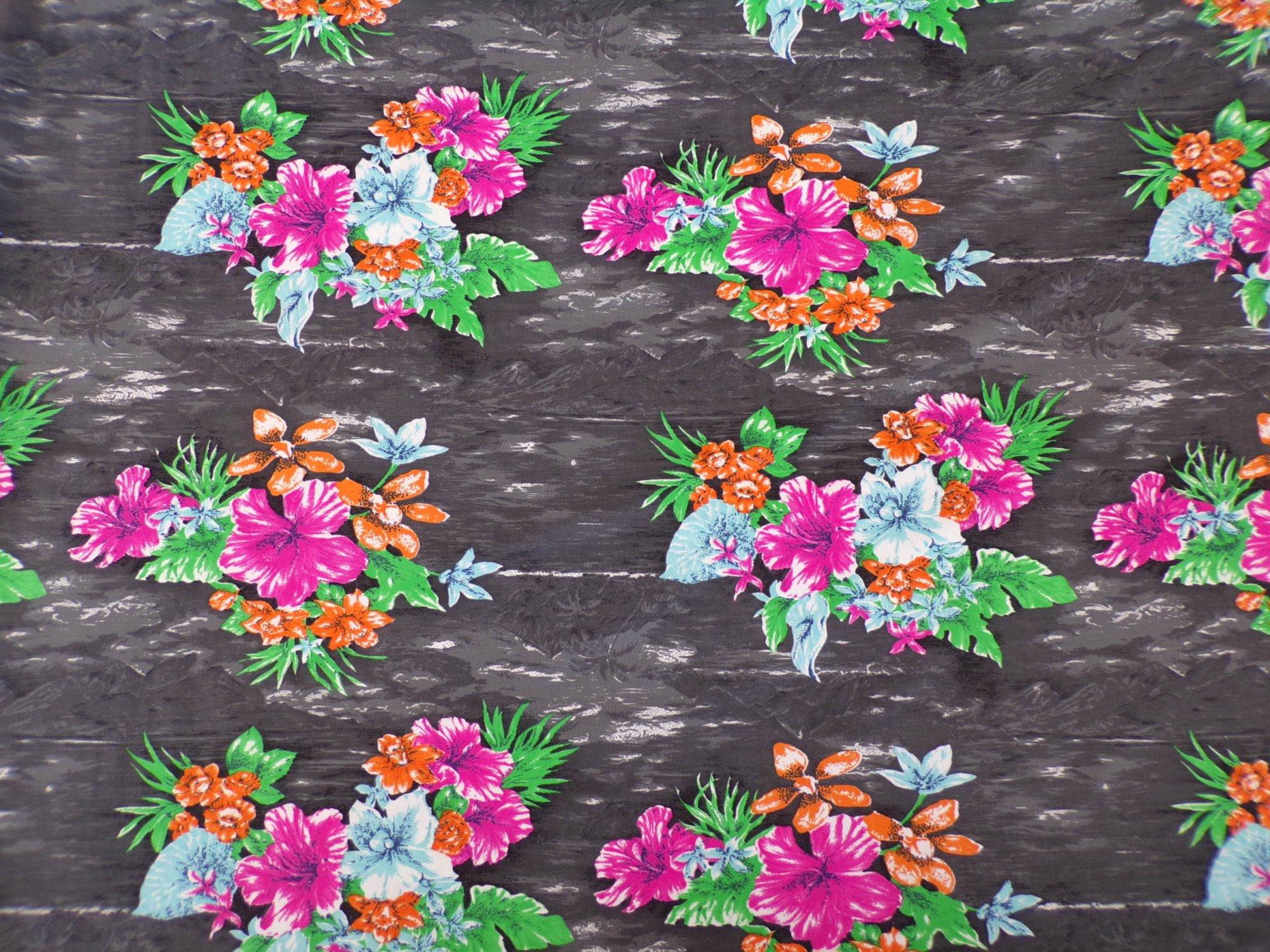 Nylon Lycra Swimwear - Gray Floral