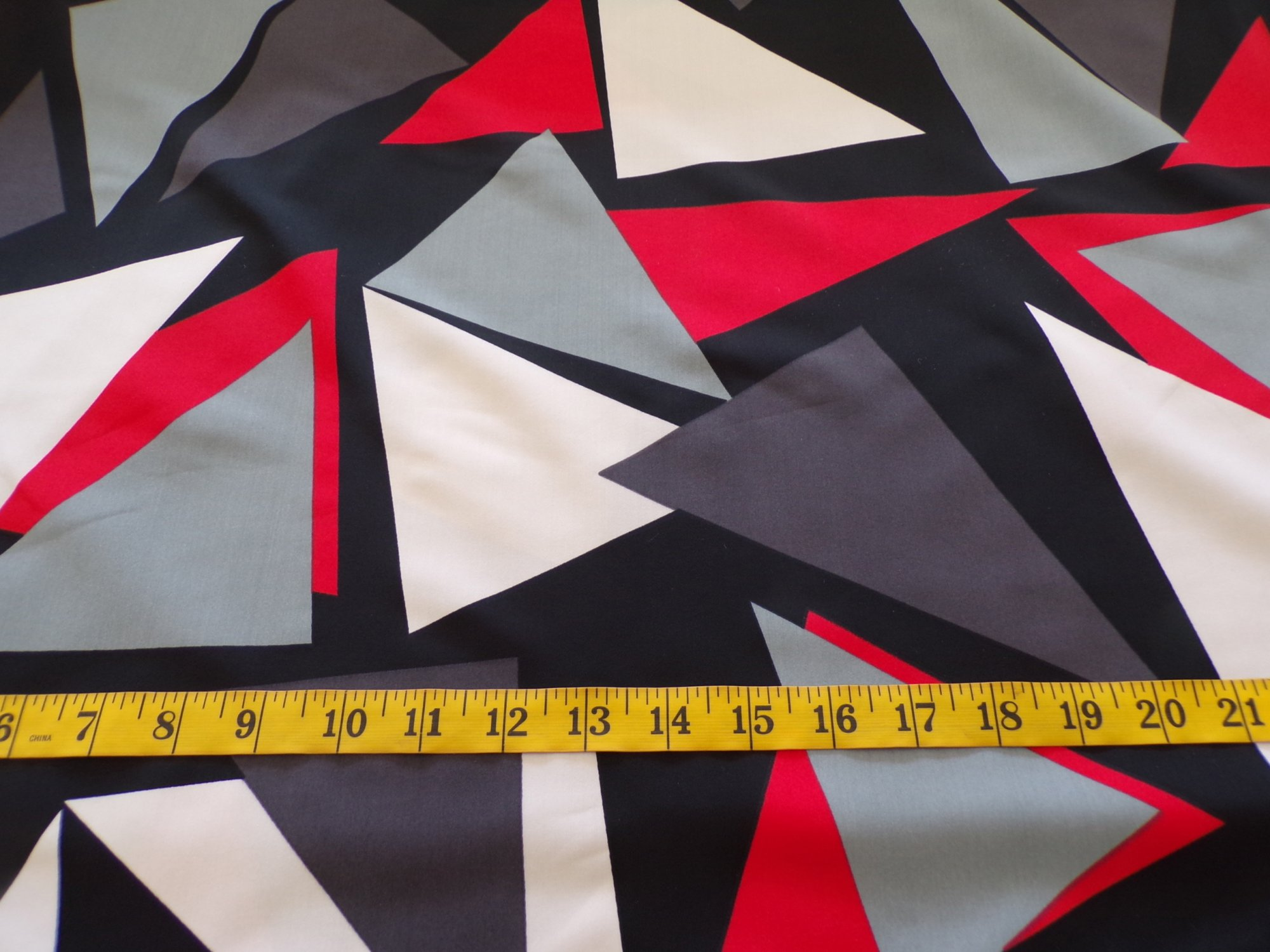 Swimwear - Black Red Gray and White Abstract