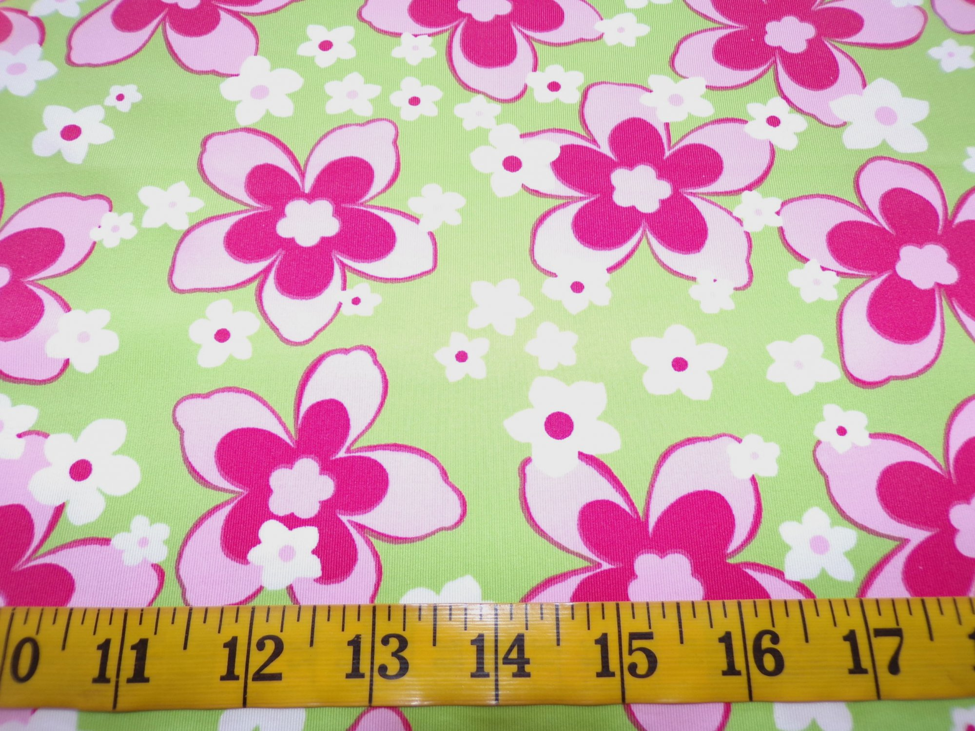 Swimwear - Light Green with Pink and White Flowers