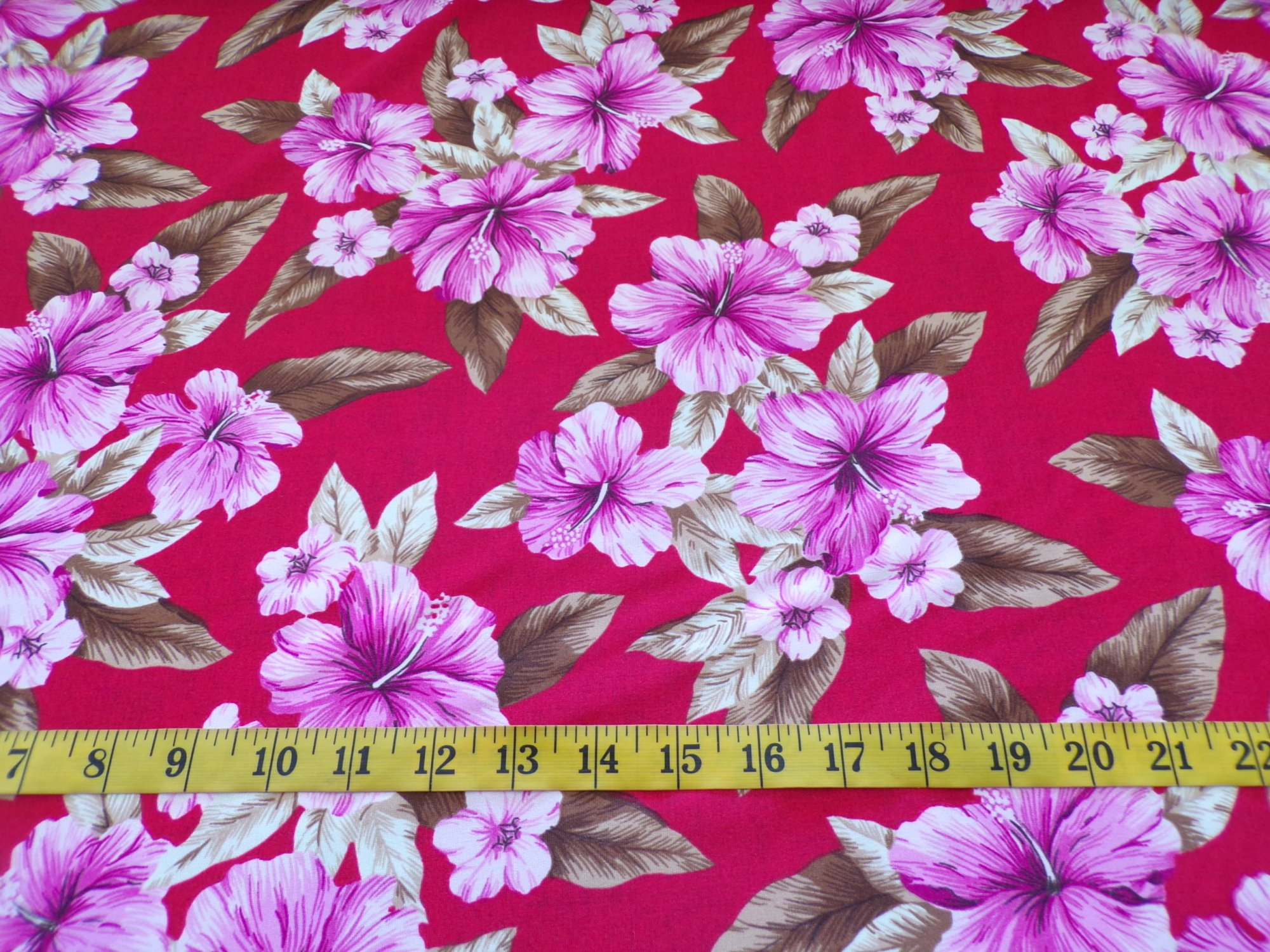 Swimwear - Red with Pink and Tan Floral