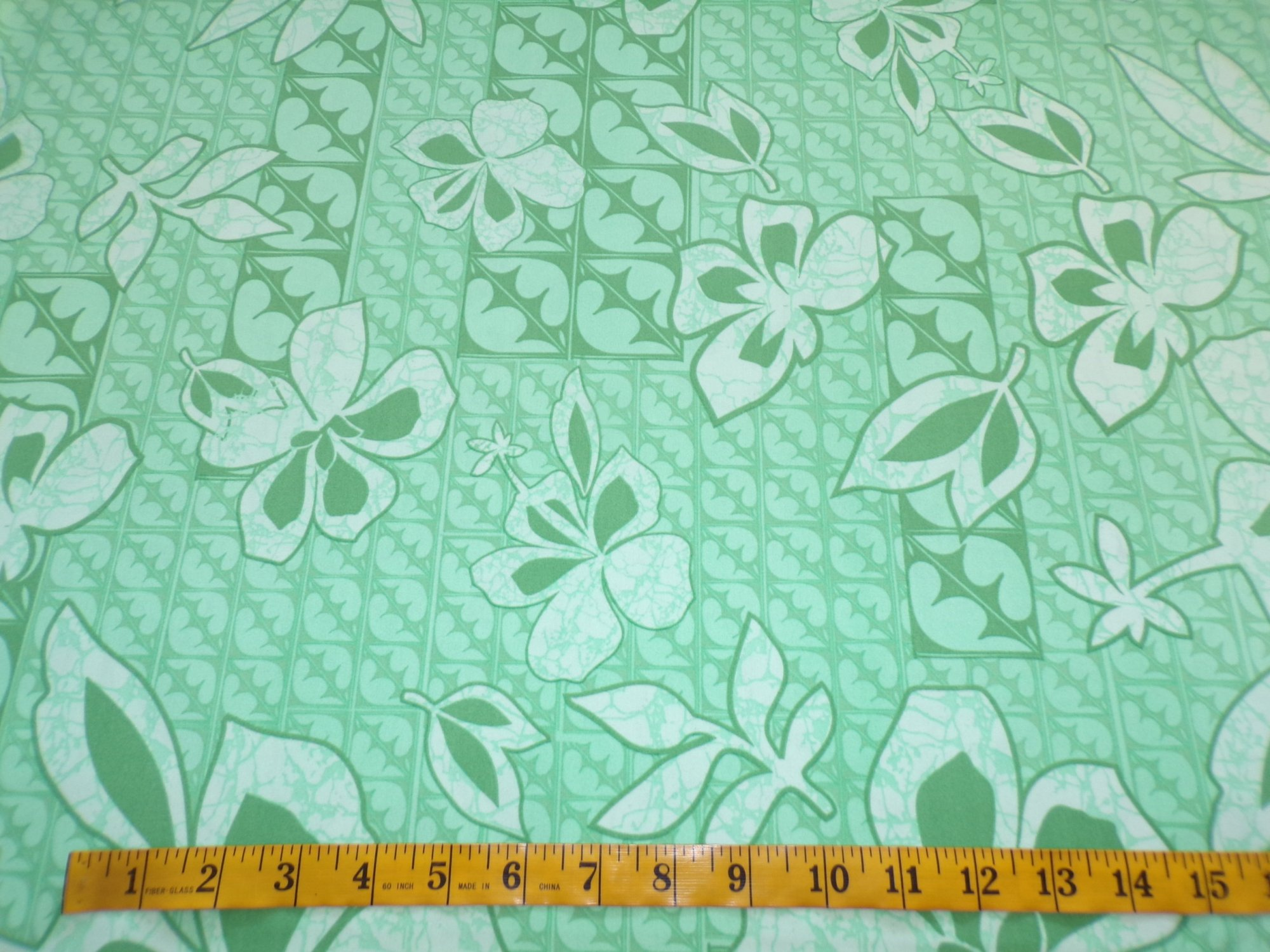 Swimwear - Green Grid with Floral