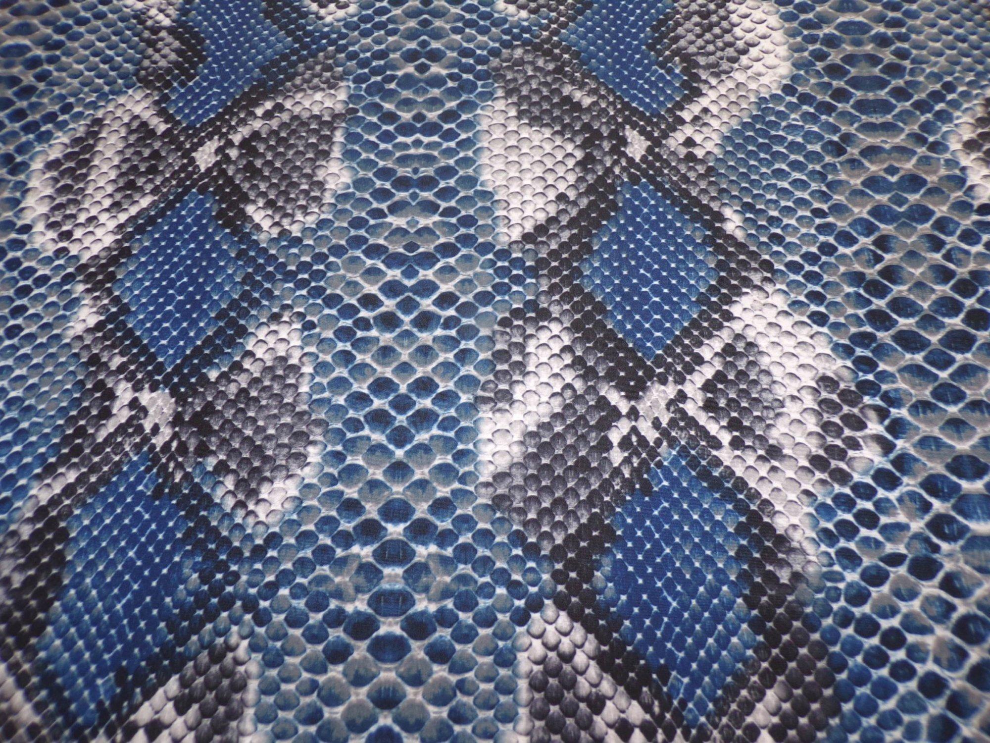 Swimwear - Blue Diamondback Print