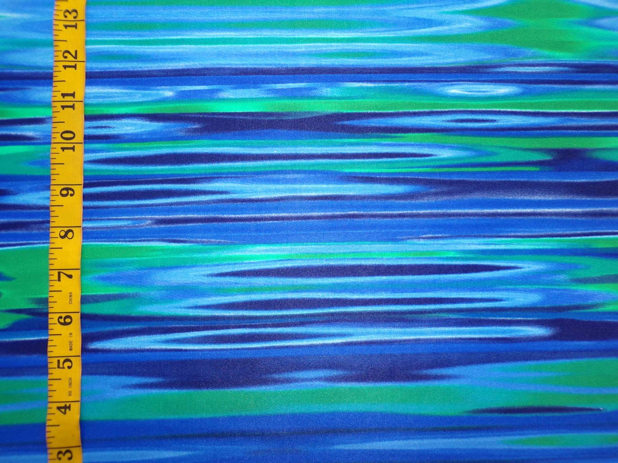 Swim/Activewear - Blue and Green Water Print