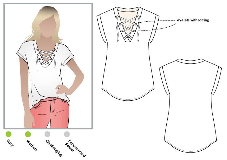 Style Arc Winona Knit Top Pattern