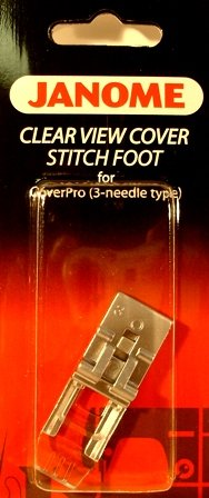 Janome Cover Pro Clear View Cover Stitch Foot (3 Needle)