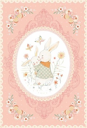 Studio E Flannel Bunny Tales Panel 3550P 22