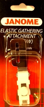 Janome Narrow Elastic Gathering Attachment.