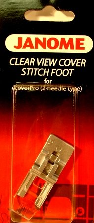 Janome 2 Needle Clear View Cover Stitch Foot