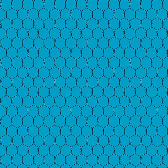 Andover Fabrics The Coop Chicken Wire Blue A-9635-T