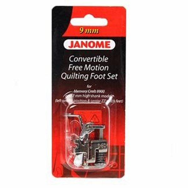 Janome 9mm Convertible Free Motion Quilting Foot Set