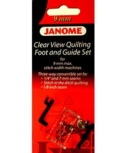 Janome 9mm  Clear View Quilting Foot & Guide Set