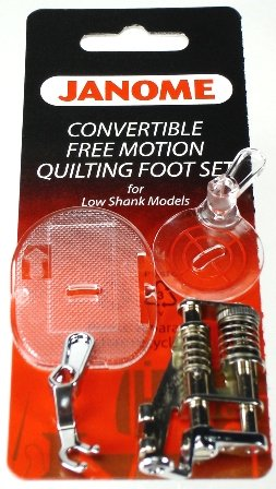 Janome 7 mm Low Shank Convertible Free Motion Quilting Foot Set