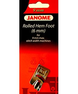 Janome 9mm Rolled Hem Foot (6mm)