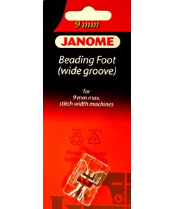 Janome 9mm Beading Foot (wide groove)