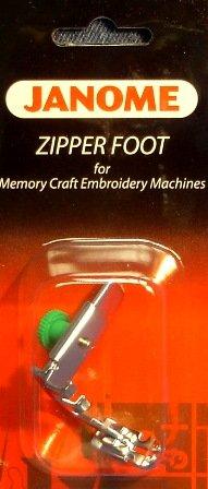 Janome 7 mm High Shank Adjustable Zipper Foot