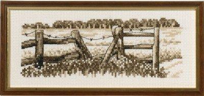 Cross stitch Fence & Field