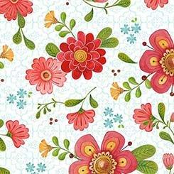 All A Flutter Floral - White