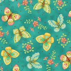 All A Flutter Butterflies - TEAL