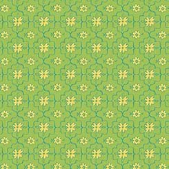 All a Flutter- Quatrefoil - GREEN