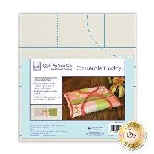 Casserole Caddy- Quilt As You Go Pre-Printed Batting