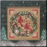 Cardinal Wreath - Button & Bead Kit