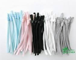 Drawstring Mask Elastic Asst Color 2 ct