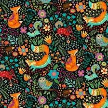 Spring Awakens- Fox, Owl & Friends on Blk