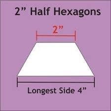2 Half Hexagon- 50 pcs