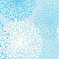 Shimmery Dandelion Aqua and Turquoise