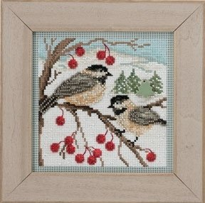Chickadees - Button & Bead Kit