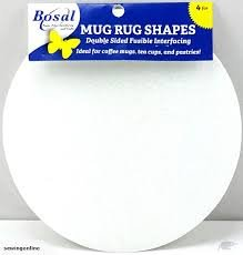 Bosal Mug Rug Shapes 4 per package, Circle