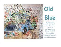 Old Blue Collage Pattern by Laura Heine