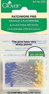 CLOVER #232A Patchwork Pins 100