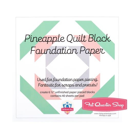 6 1/2 inch Pineapple Block Foundation Paper