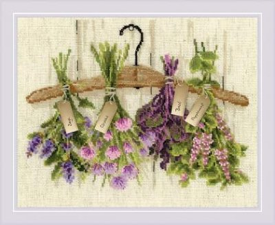 Herbs Cross-Stitch Riolis